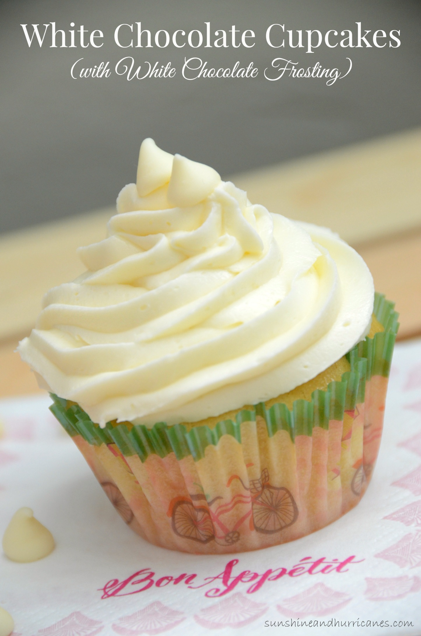 ... White Chocolate Cupcakes with White Chocolate Frostings