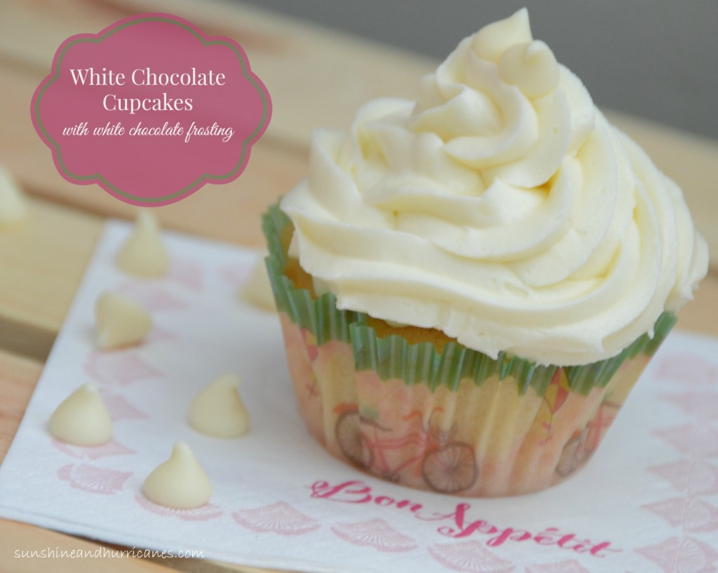 A Decadent Cupcake Recipe That No Cupcake Lover Will Be Able To Resist. White Chocolate Cupcakes with White Chocolate Frosting.