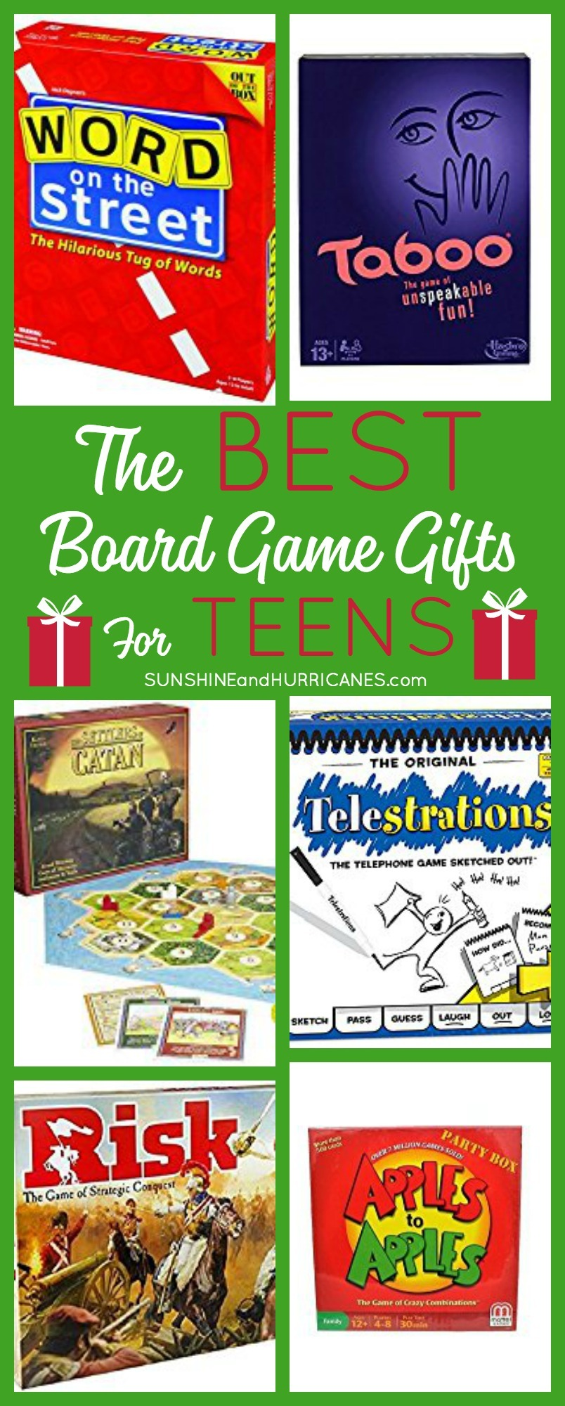 Looking for some great gift ideas for teens? These Board Games for Teens were suggested by teens and make fun, affordable gifts to holidays and birthdays