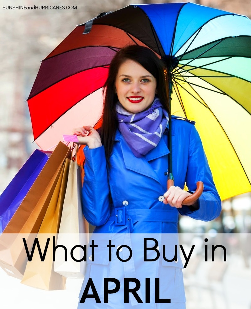 Did you know that there really are times of year when products are at their cheapest? Driven by sales cycles, weather and all sorts of other factors from funny to fabricated, if you are a truly frugal then you'll want the inside scoop about what to buy when to get the best price. Here is What to Buy in April. sunshineandhurricanes.com