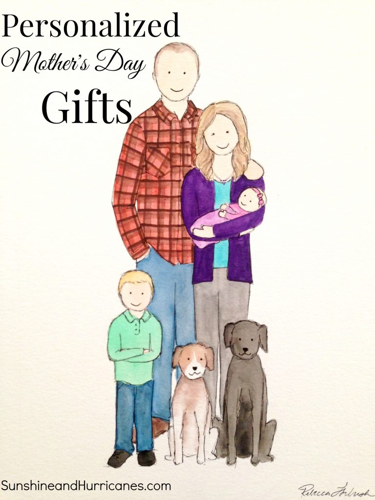 Personalized Mother's Day Gifts are a great way to show your love to the special lady in your life. Unique watercolor paintings customized for your family