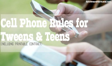 Cell Phone Rules for Your Tween and Teen Feature