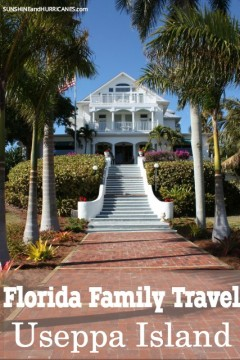 Have you ever wondered what it would be like to travel to a private island? Useppa Island in Southern Florida opens up it's inn and property to guests giving them the opportunity to explore the natural tropic beauty of this historic getaway. Palm trees, beaches, outdoor activities and fine dining are just some of what await you. Florida Family Travel Useppa Island. SunshineandHurricanes.com