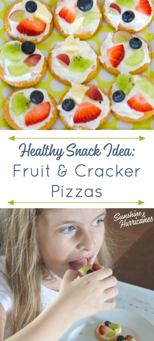 Fruit and Cracker Pizza Healthy Snack Idea
