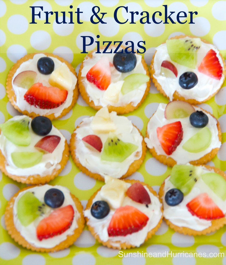 Simple and delicious, Easy Fruit and Cracker Pizzas are great for after school snacks, post sports refuel, VBS or camp! Kids can make on their own, too!