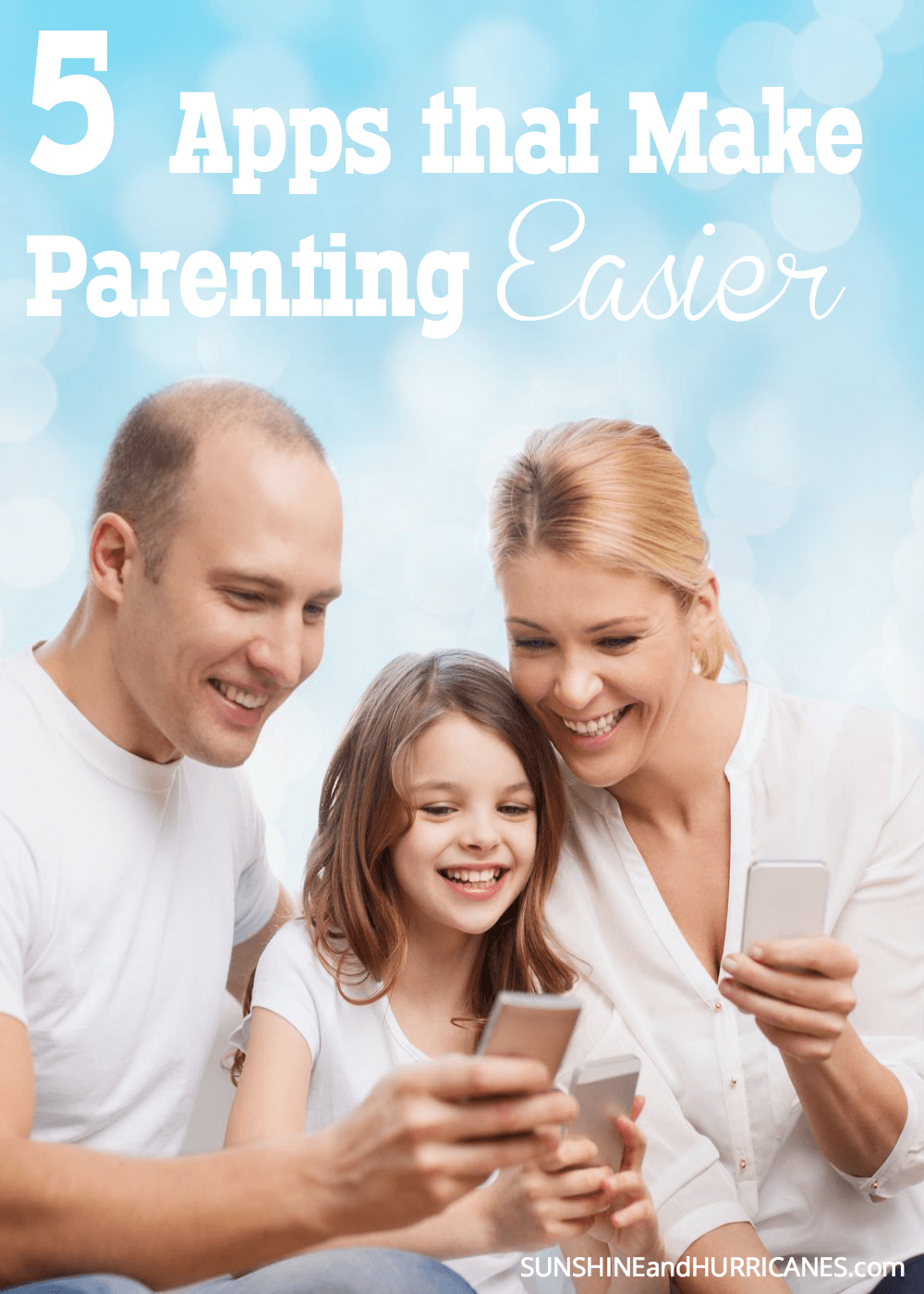 Looking for ways to make this parenting job at least a little less difficult? While there are no magic wands, with the wonders of technology parents really can find tools to assist them with managing their households and taking care of their families. Here we will share 5 apps that make parenting easier. SunshineandHurricanes.com