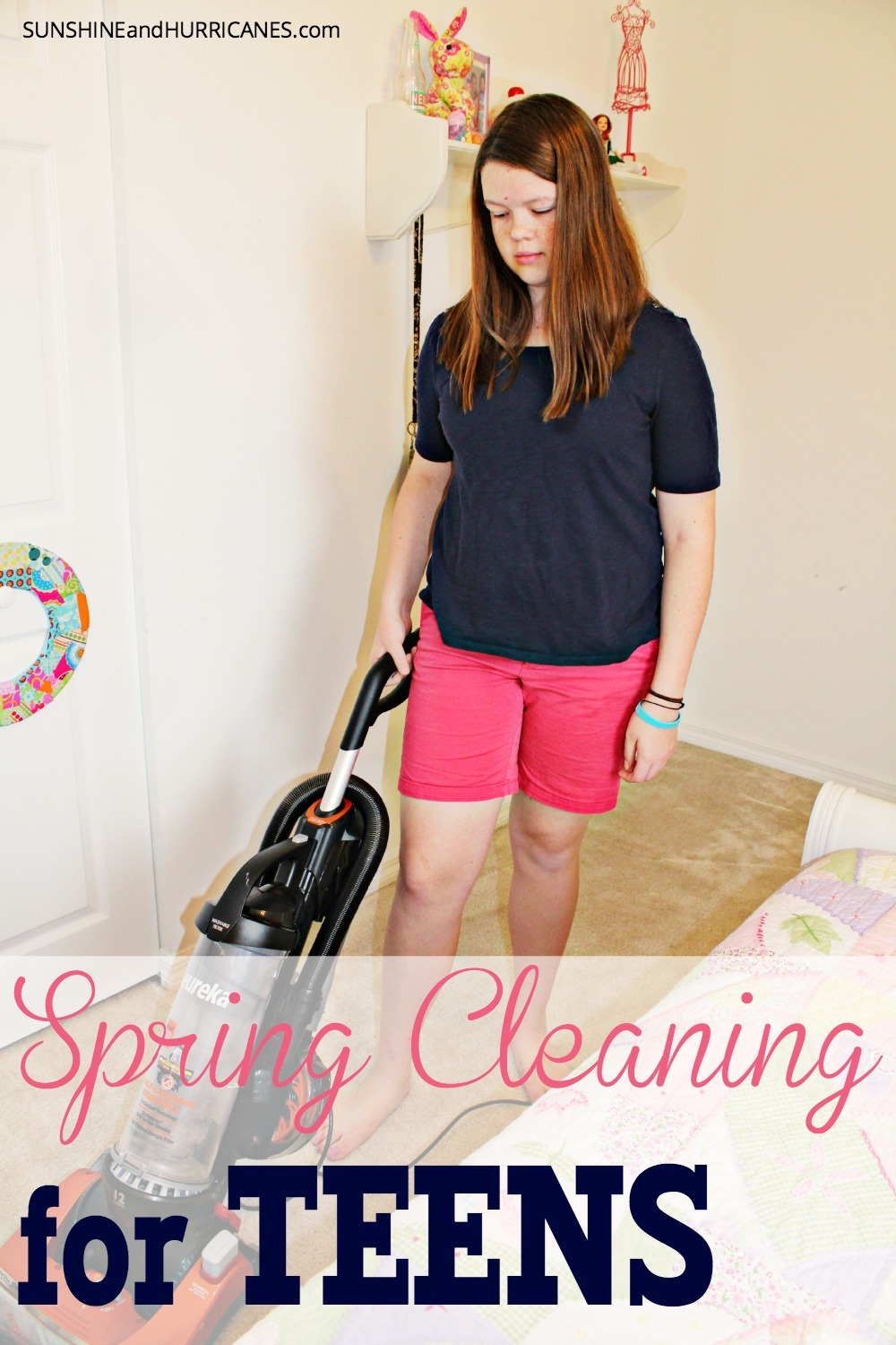 Do you want to raise confident, responsible and independent children? Then giving them chores and teaching them how to maintain their rooms is essential. Give your teens and tweens ownership of taking care of their own space and make sure they help around the rest of the house. They really will thank you for it some day! Spring Cleaning for Tweens. SunshineandHurricanes.com