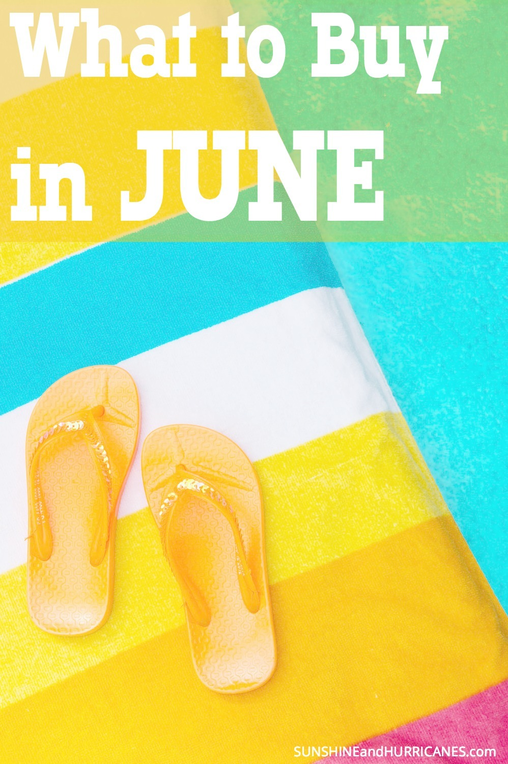 You want to make sure you're getting the best deal possible on everything you buy, right? For each month of the year there are items that will NEVER be priced lower. This post gives you all the information you need to know about What to Buy in June. SunshineandHurricanes.com