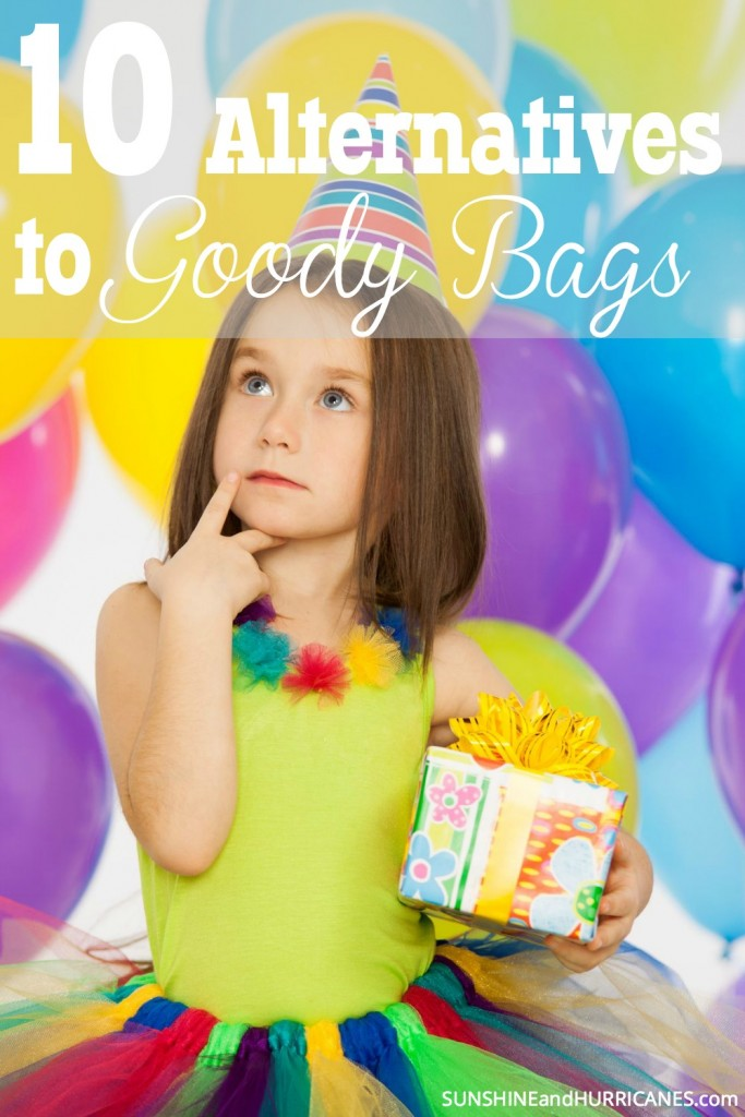 Do you feel like a goody bag is MUST for kids Birthday Parties, but hating spending the money on all that cheap junk and candy? Instead of sugar and throw away trinkets, why not give something that might actually be kept and used. In this post, you'll find 10 inexpensive and creative ideas to give to your guests. 10 Alternatives to Birthday Party Goody Bags