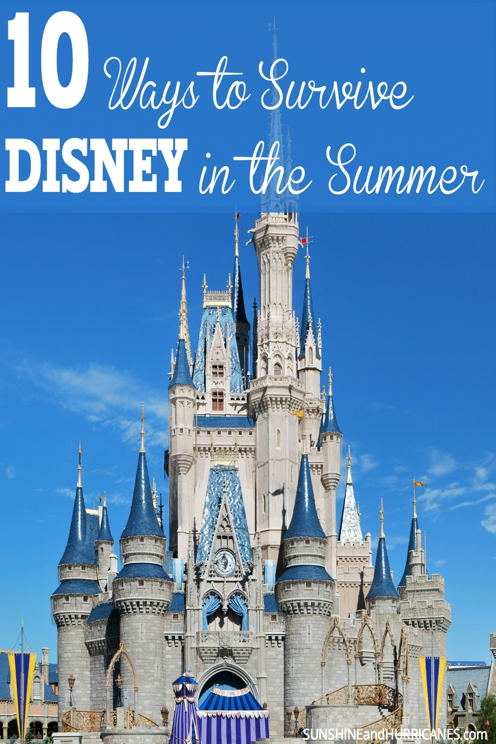 Are you planning a fun family trip to Disney this summer, but worried about your kids and the heat? In this post, two Florida moms who are seasoned experts at managing theme parks in the summer will give you ALL the tips and tricks for making sure your trip to the mouse house really is a magical time for all. 10 Ways to Survive Disney in the Summer. SunshineandHurricanes.com