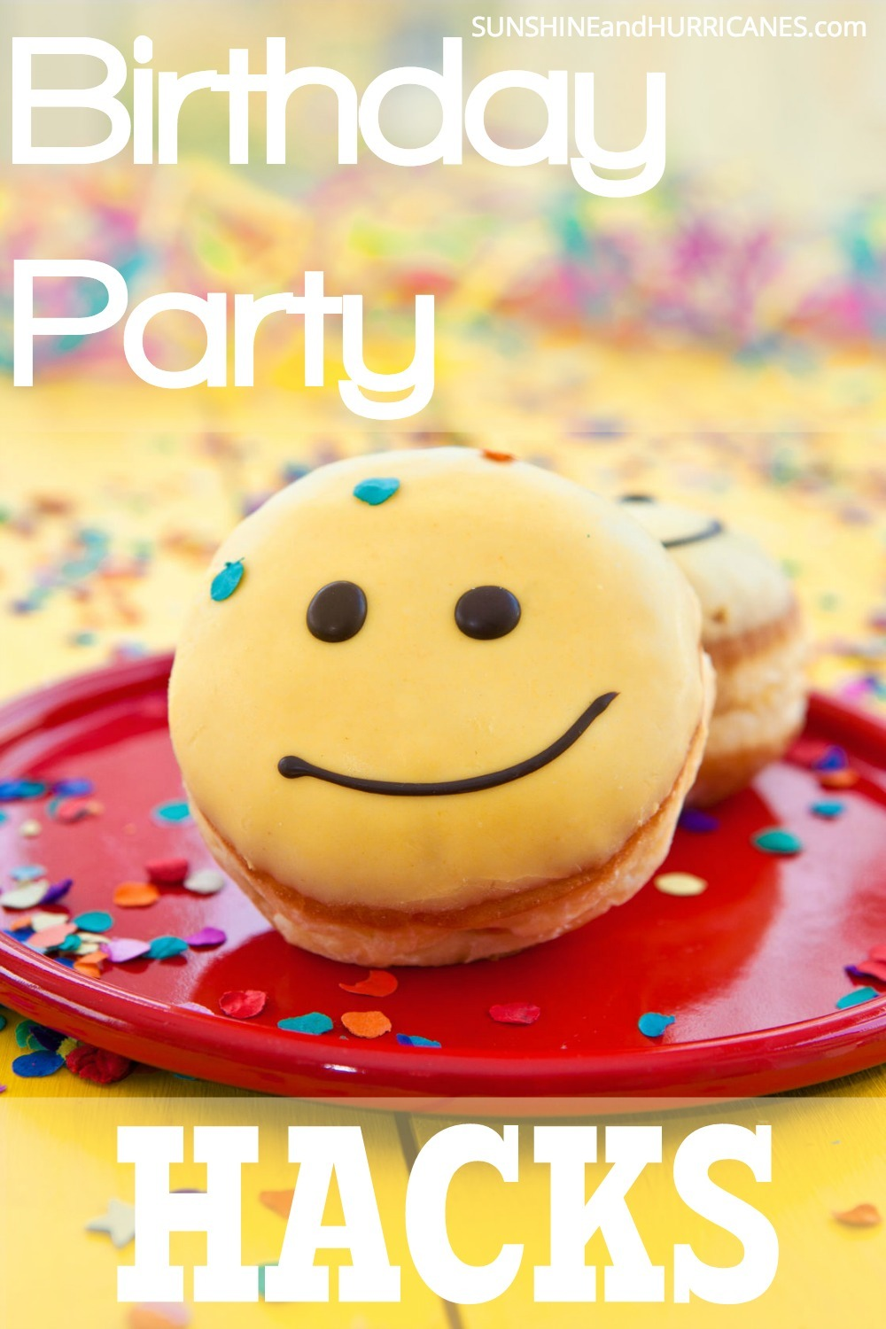 Planning a Birthday Party for your child (or anyone for that matter) doesn't have to be hard or stressful! There are many ways to simplify the process which make it easier for you and more enjoyable for the guests. Take if from moms who've thrown a party or 300 when we share these tips and tricks for throwing the Best. Birthday Party. Even. without all the fuss. Birthday Party Hacks. SunshineandHurricanes.com