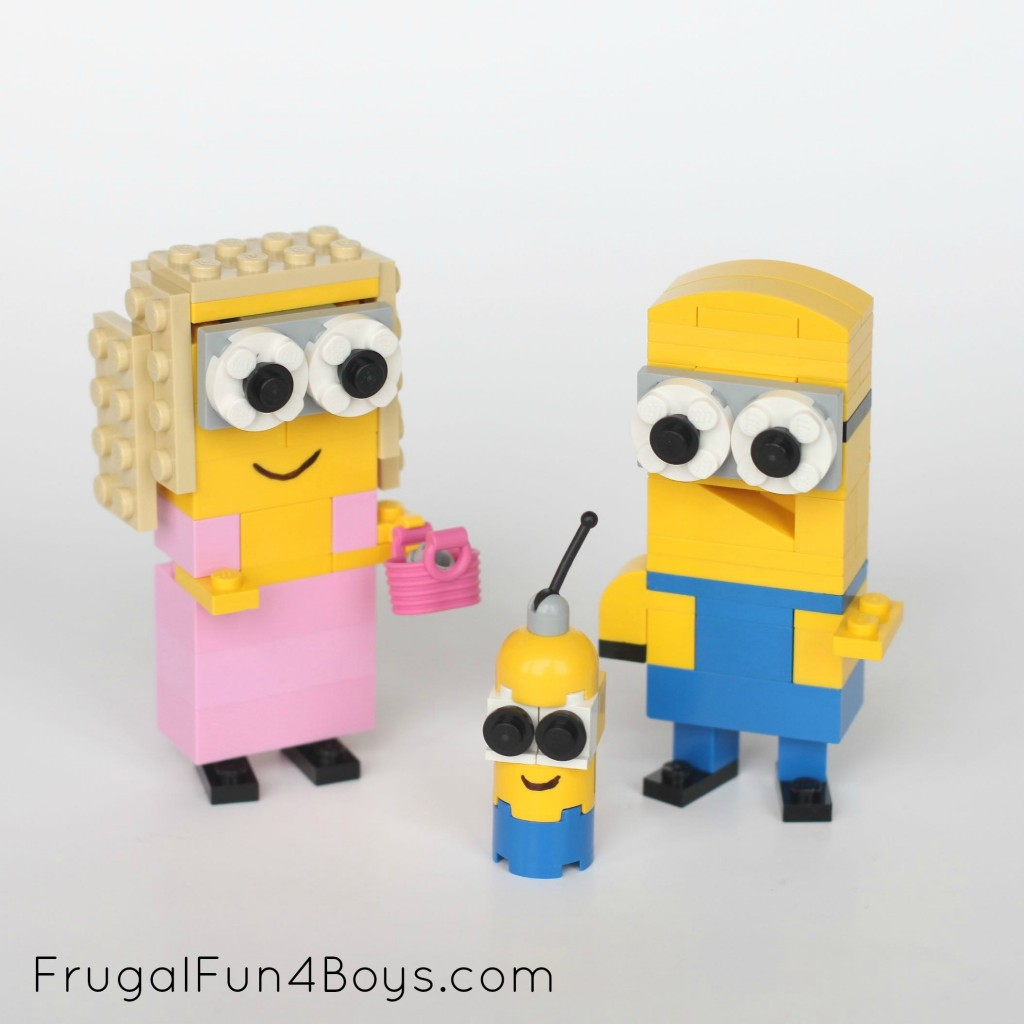 Lego Minions Building Instructions from Frugal Fun for Boys. SunshineandHurricanes.com