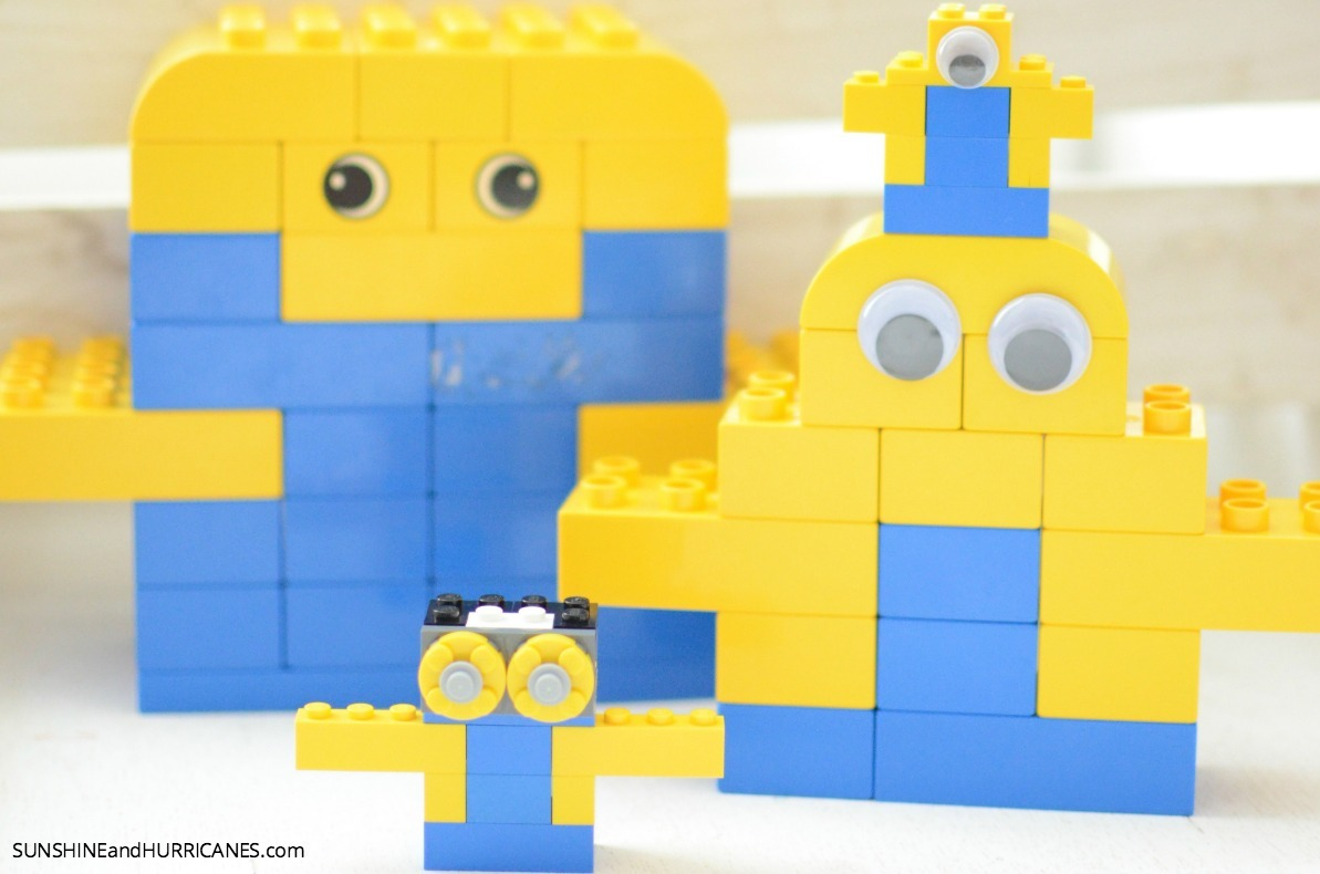 Building Minions with Lego. SunshineandHurricanes.com