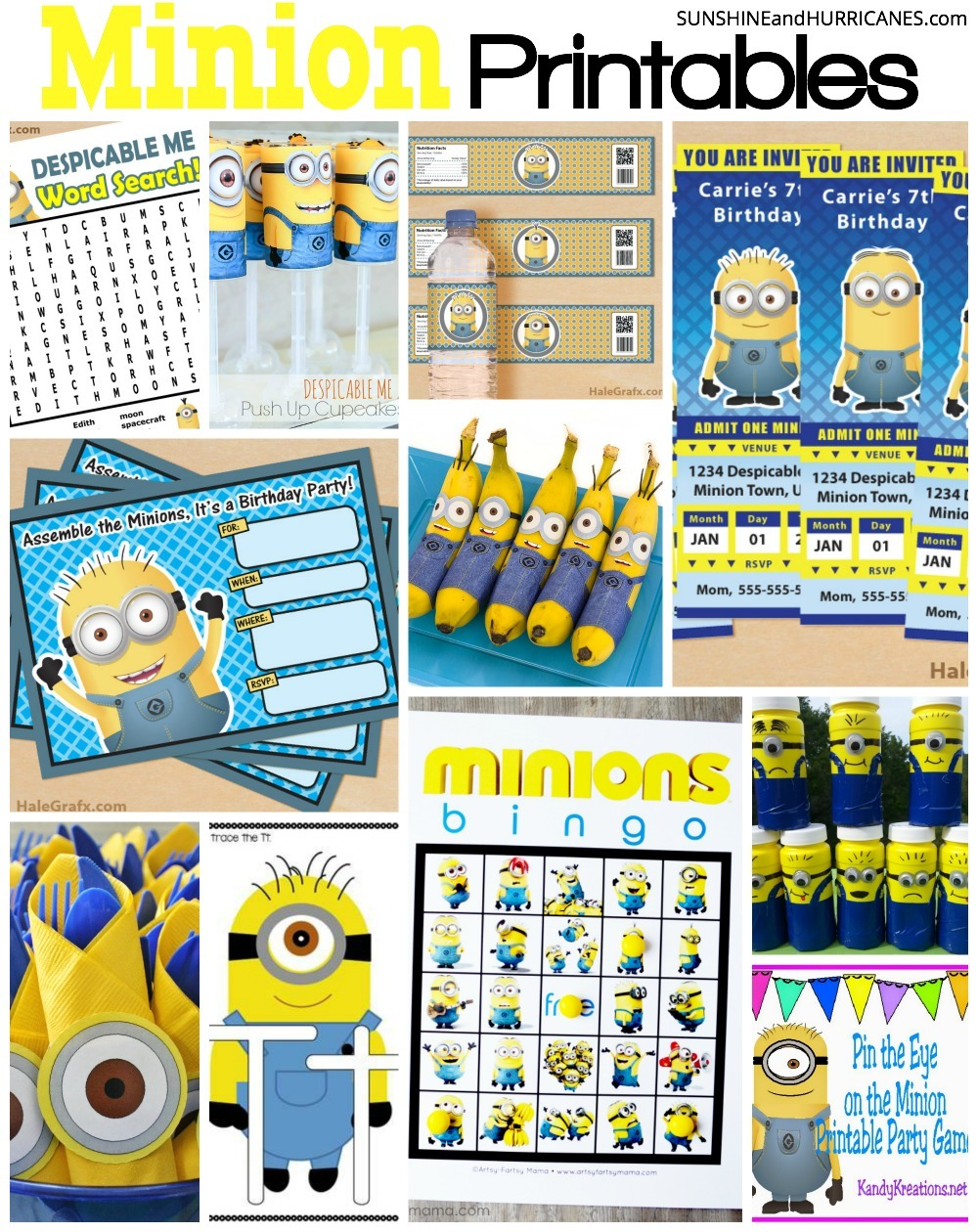 Looking For Minion Printables A Birthday Party Or Even Homeschooling Lessons You