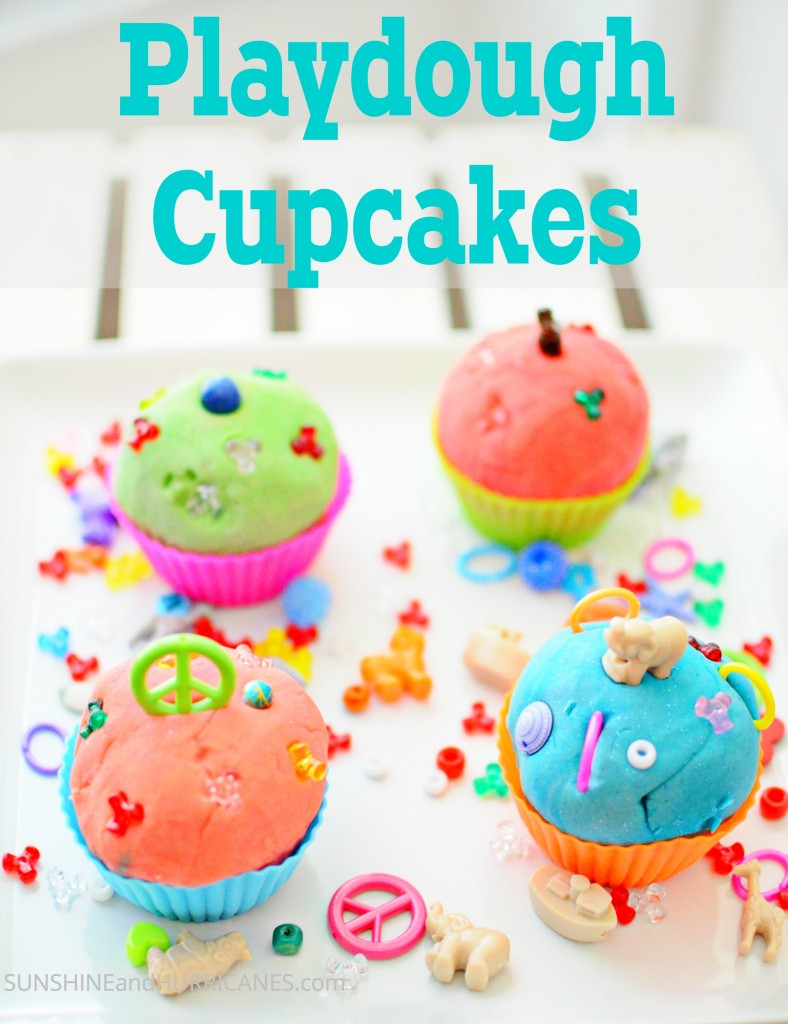 Easy kid's party idea, these playdough cupcakes are fun at home, school, church, or on a trip.