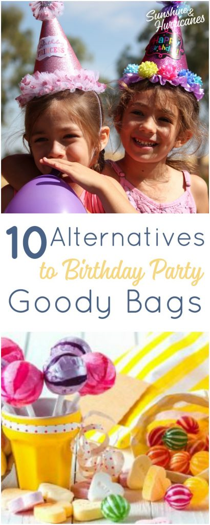 10 Alternatives to Birthday Party Goody Bags. Party Favors that aren't junk