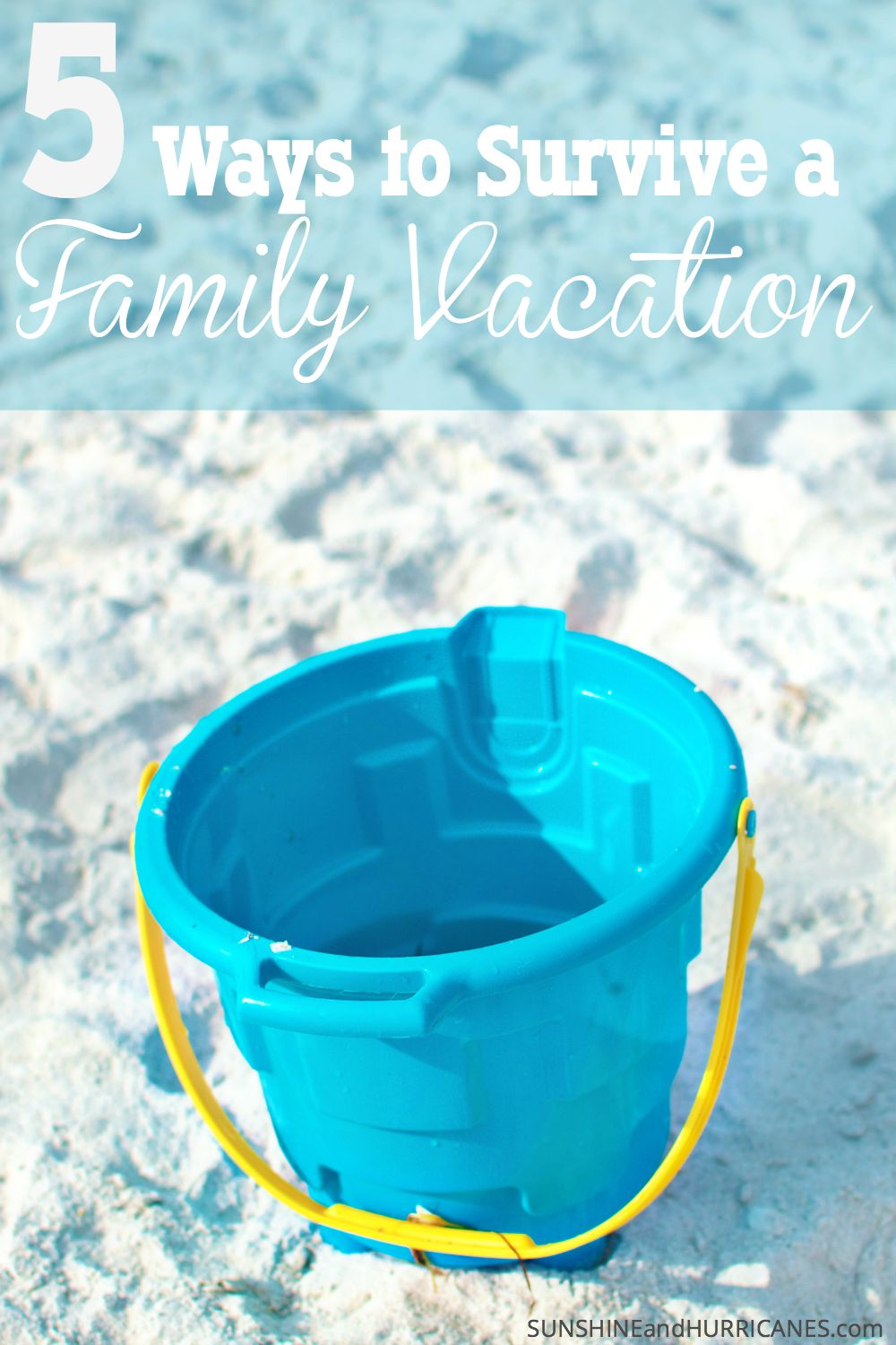 Do you typically have an ideal image of what a family vacation is going to look like only to have the reality turn out to be a disappointment? First, we have to understand the difference between a vacation and a family trip. Then we need to prepared for as many family trip pitfalls as possible so we can actually have fun and create those memories we imagine. 5 Ways to Survive a Family Vacation. SunshineandHurricanes.com