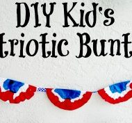 DIY Kid's Patriotic Bunting – An Easy 4th of July Craft