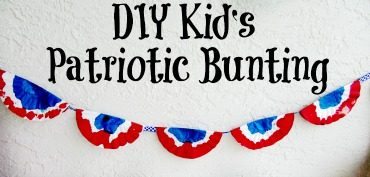 DIY Kid's Patriotic Bunting