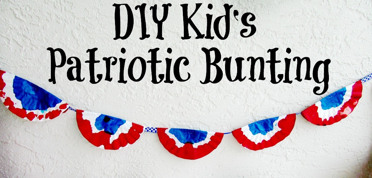 DIY Kids Patriotic Bunting FB
