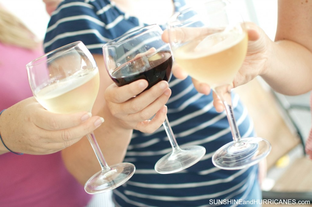 Hosting a Book club with a wine and dessert theme. SunshineandHurricanes.com