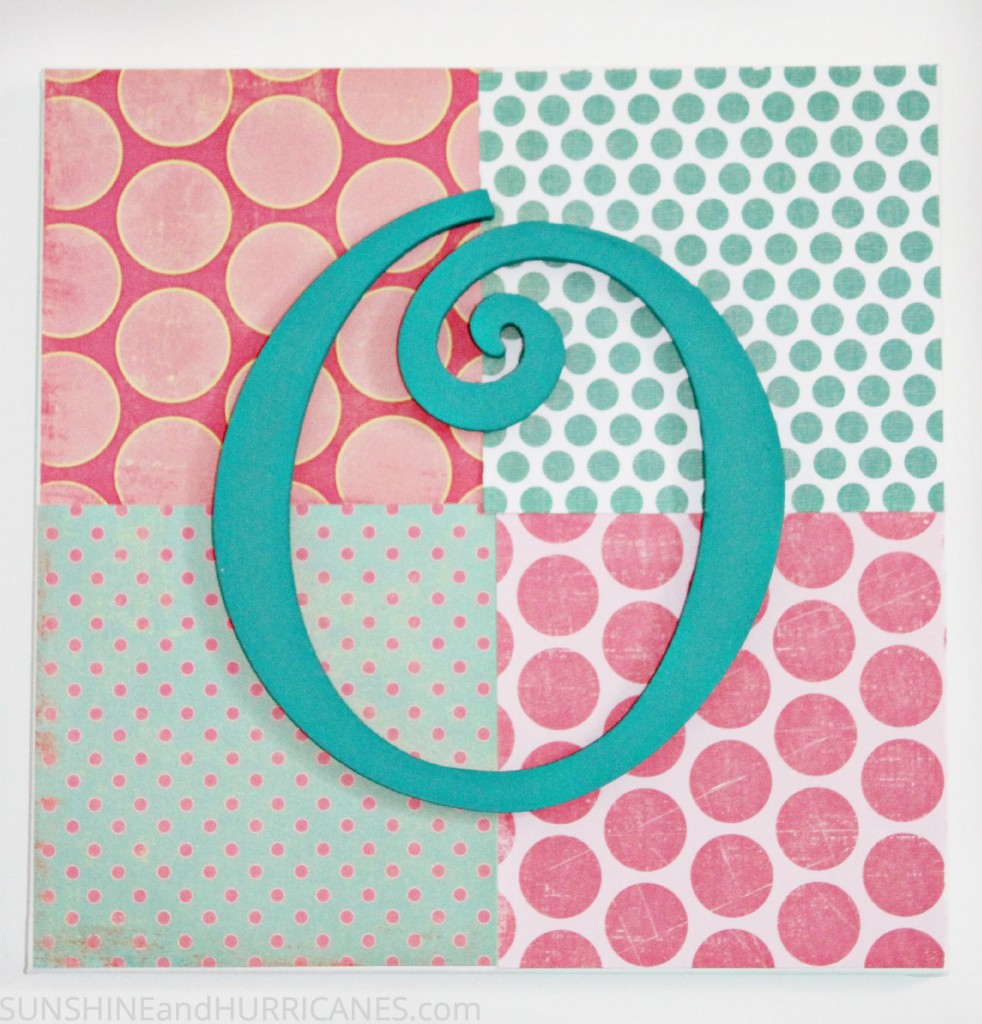 Teen craft monogram wall art for Crafts to do with teens