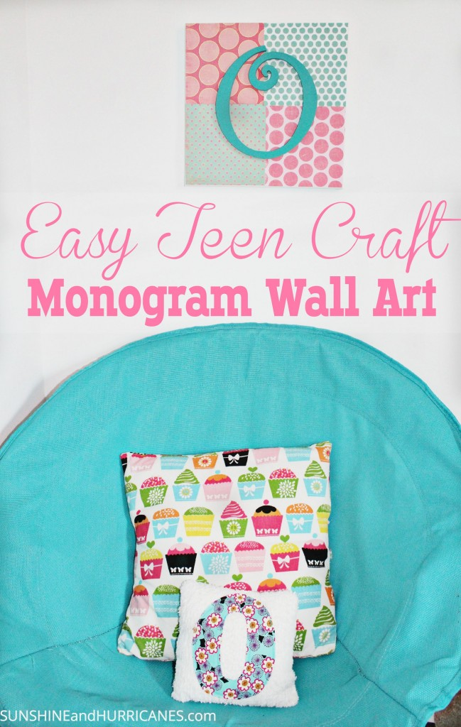 teenage arts and crafts ideas teen craft monogram wall 7226