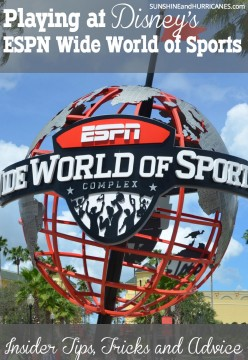 Do you have a youth athlete that will be playing at Disney's ESPN Wide World of Sports? There are many tips and tricks to help you maximize the experience and avoid any potential problems. Let this seasoned sports mom show you has it worked. Playing at Disney's EXPN Wide World of Sports. SunshineandHurricanes.com