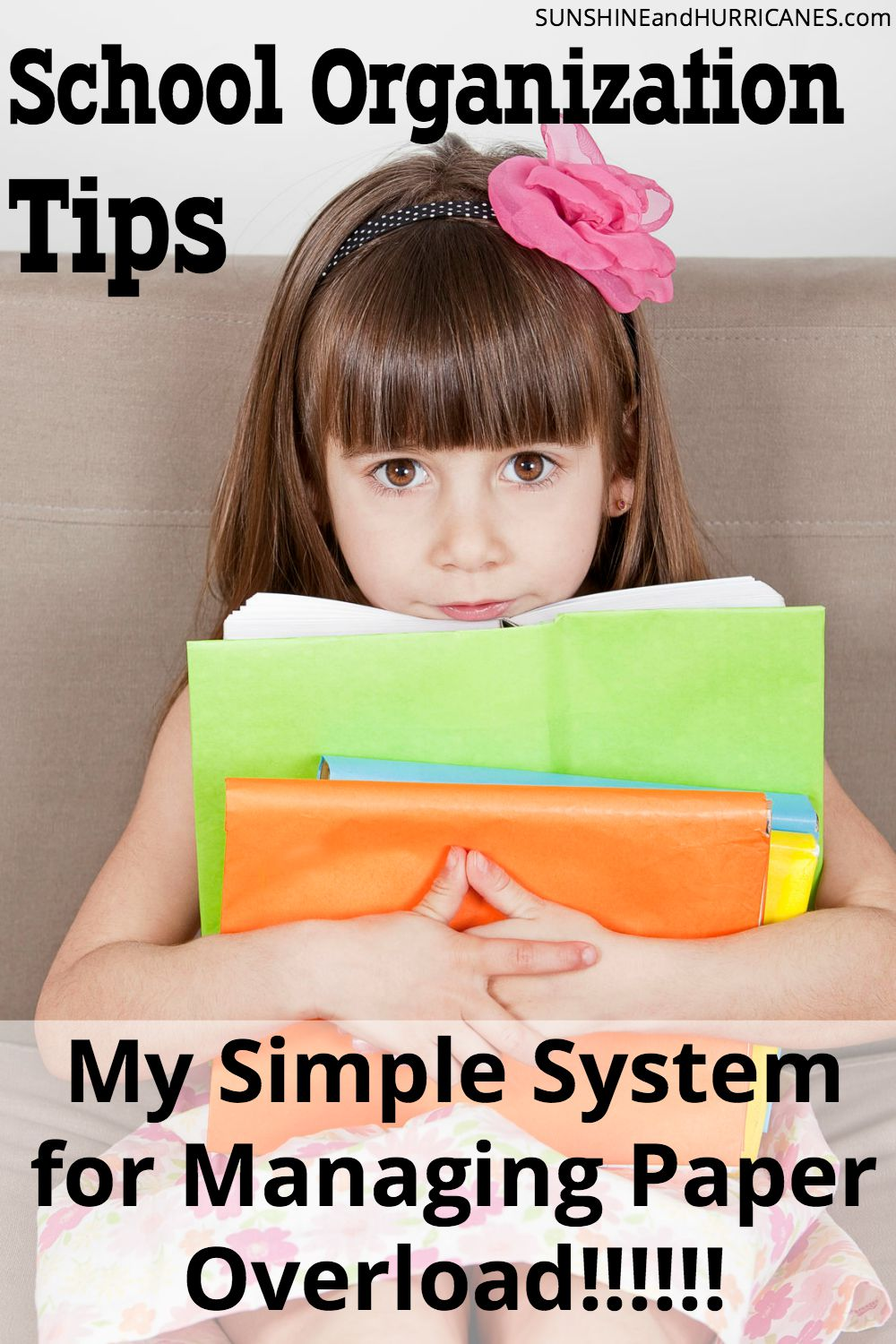 Are you completely overwhelmed by all the paperwork that comes home from school with your kids every day?! I was too! It stressed me out and I was so frustrated. Then I developed a simple system (yes, really simple) that helped me sort through it all in a quick and easy way and even organize and store the most important things. Here I'll share my School Organization Tips for Managing Paper Overload with you. SunshineandHurricanes.com