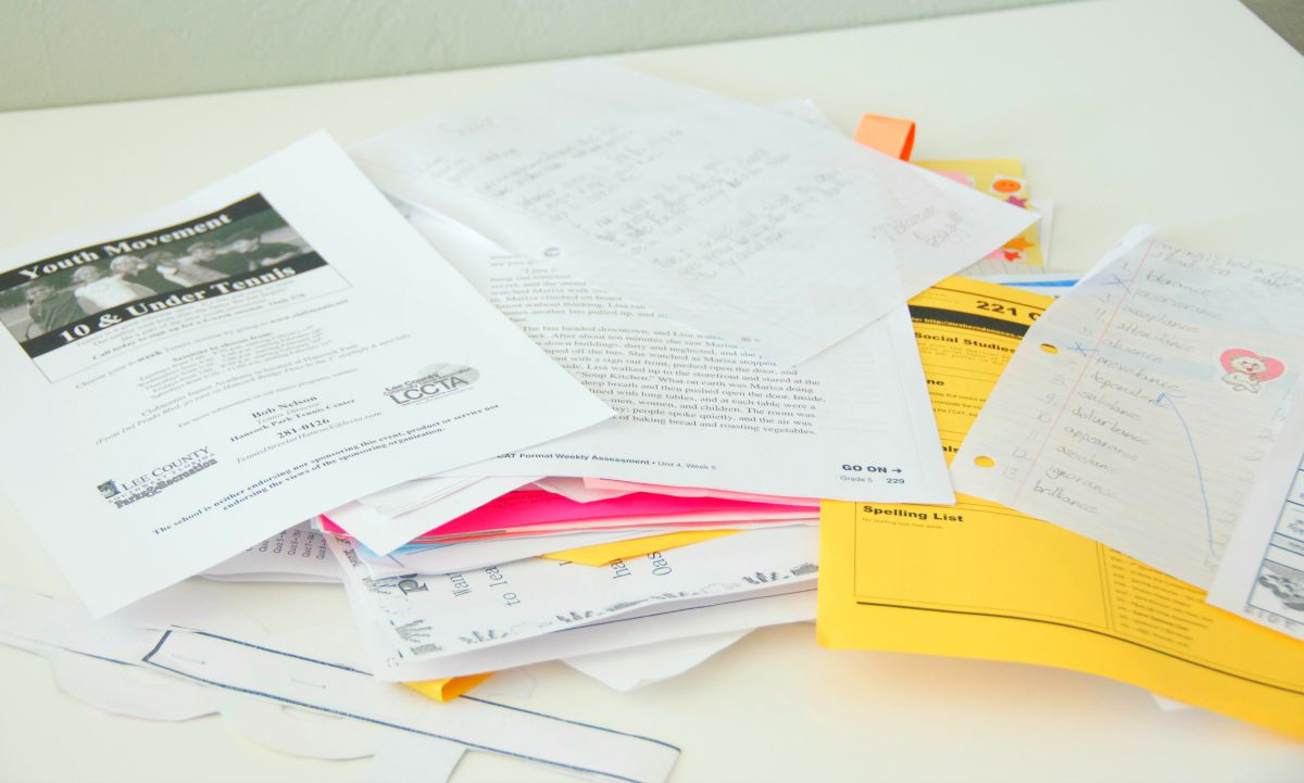 School Organization Tips Managing Paper Overload