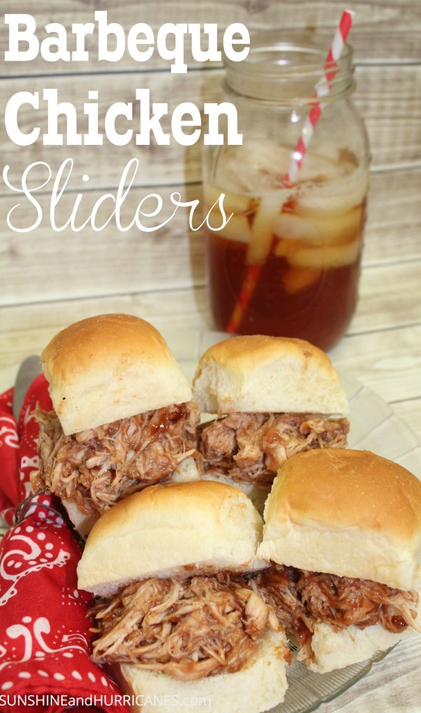 BBQ Chicken Sliders combine delicious flavors for a simple, fast dinner the entire family will love. Perfect meal plan idea, picnics, or parties.