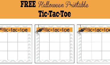 Halloween Activities for Kids  Tic Tac Toe