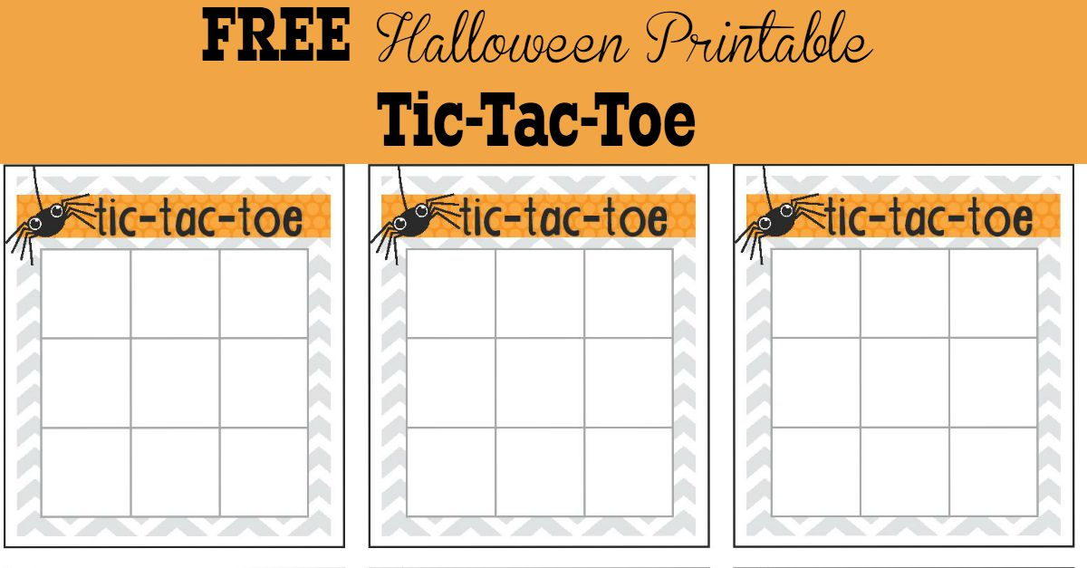 Halloween Activities for Kids - Tic Tac Toe