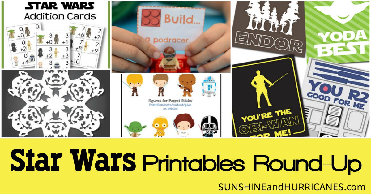 Star Wars Printables An Out Of This World Round Up