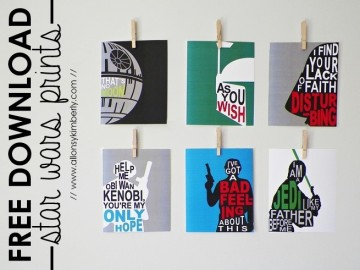Star Wars Wall Art Prints. Star Wars Printables. SunshineandHurricanes.com