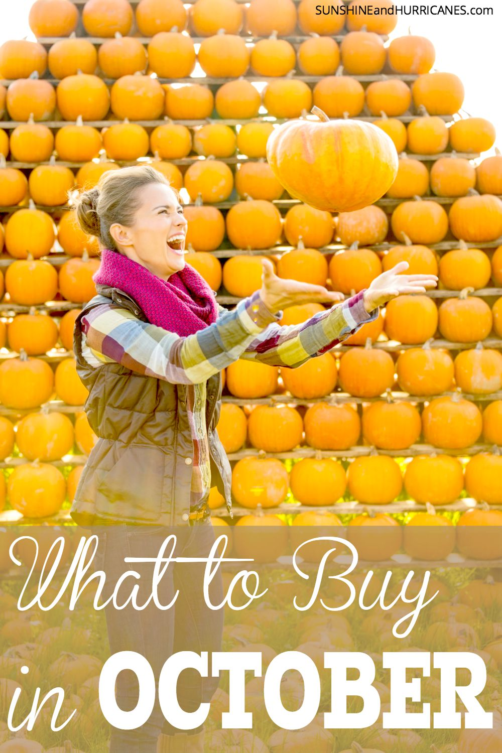 Did you know that every month features the BEST deals of the whole year on certain items the you by and use in your household all the time? Save money and keep your family budget on track by knowing what to buy when. Here is What to Buy in October. SunshineandHurricanes.com