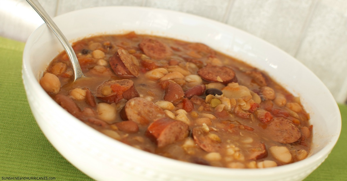 Looking for the perfect comfort food to warm up your family on a chilly night? This 15 bean soup recipe is delicious and easy to make. A yummy dinner that will please everyone.