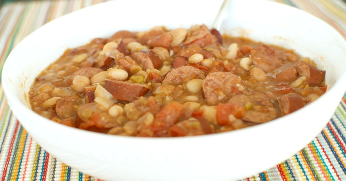 Soup is the perfect comfort food for a chilly day. Warm your family up with this recipe for 15 bean soup. Savory and delicious it will be a hit with even picky eaters. SunshineandHurricanes.com