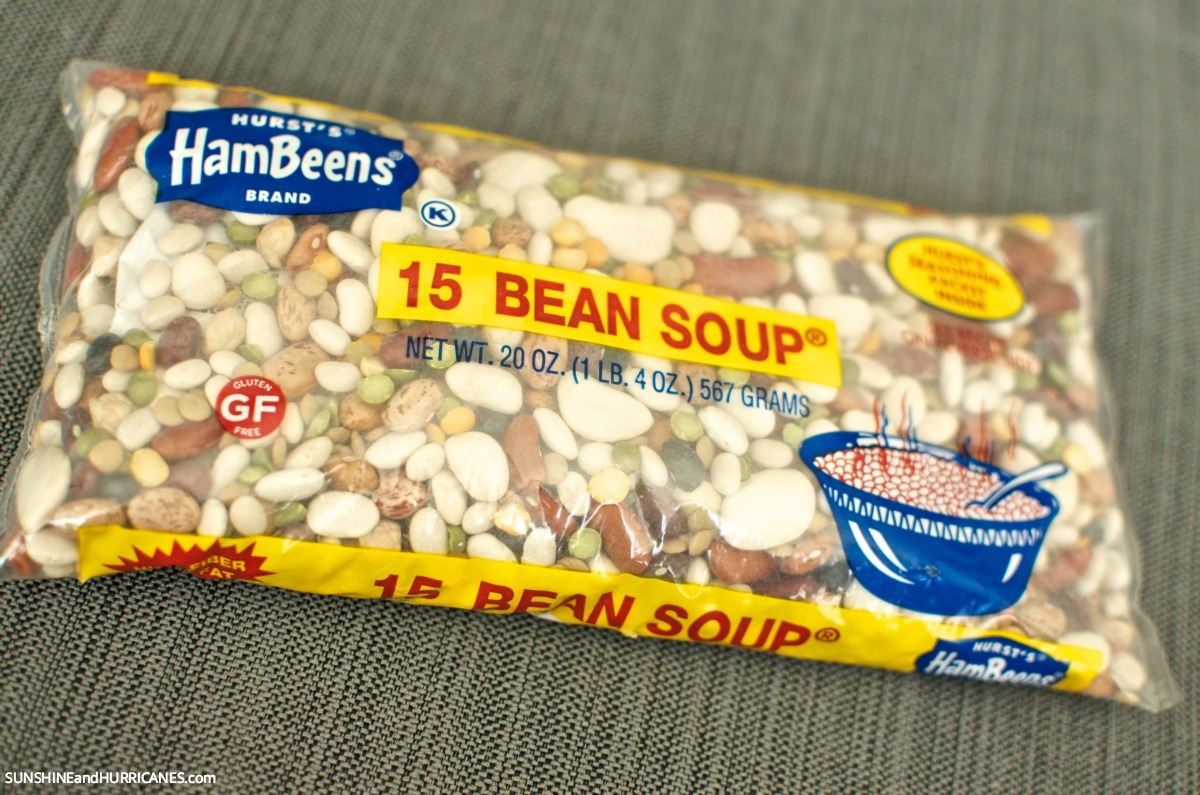 15 bean soup from Hurst beans. The perfect comfort food to warm up your family on a cold day.