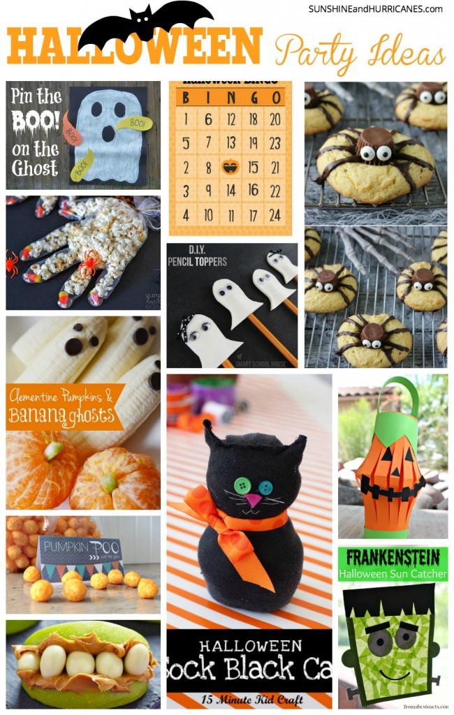 Are you in charge of your child's class Halloween Party this year or hosting a neighborhood Halloween gathering? Well, we are going to ensure that everyone has a frightfully good time without you having to turn into a witch to make it all happen. The ultimate Halloween Party Ideas. SunshineandHurricanes.com