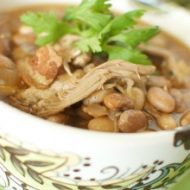 Bacon Bean and Turkey Slow Cooker Soup