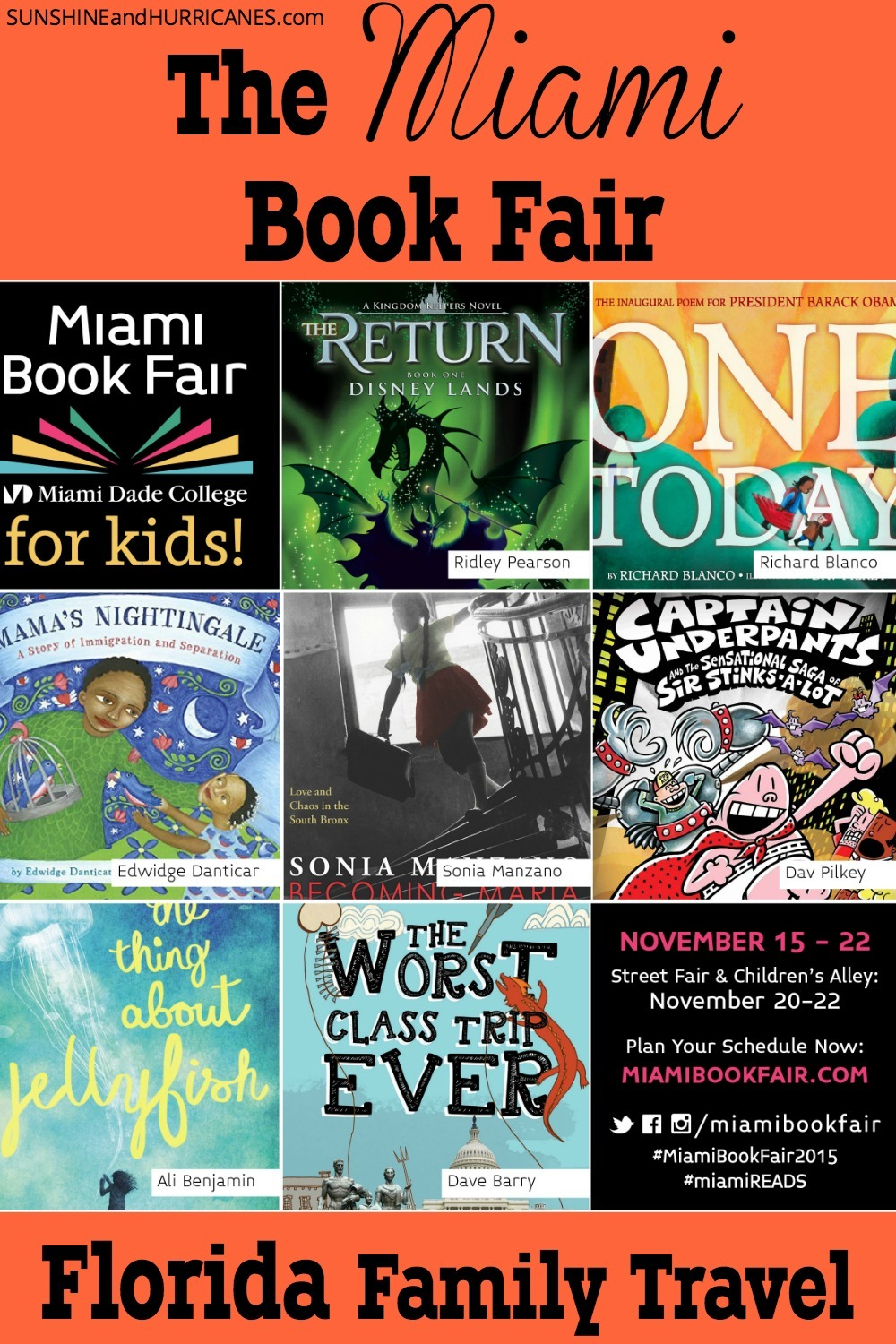 One of the biggest Book Fairs in the world takes place in Miami each November. An amazing event that engages readers of all ages and a great way to foster a love of reading in children. Famous authors, fun performances, great food and BOOKS, BOOKS and MORE BOOKS. Florida Family Travel - The Miami Book Fair