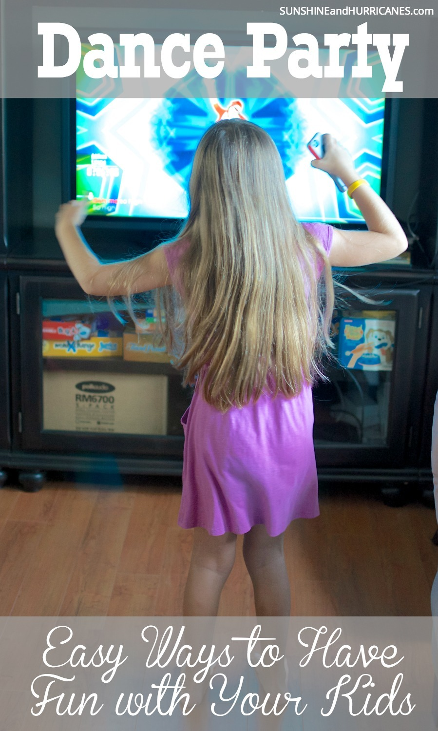 Looking for an easy way to have fun with your kids? Have a family dance party! It's a great way to burn off energy, get some exercise and just have a good time together as a family. SunshineandHurricanes.com