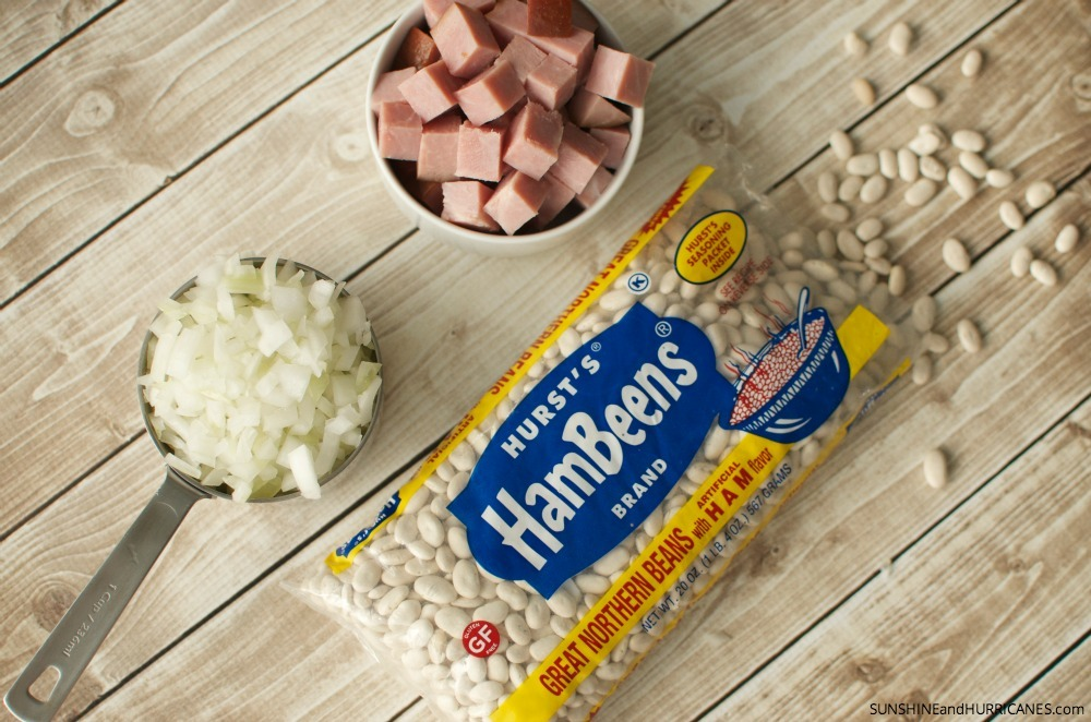 Great Northern Beans and Ham Soup. A simple meal that the whole family will love and perfect for using holiday ham leftovers. SunshineandHurricanes.com
