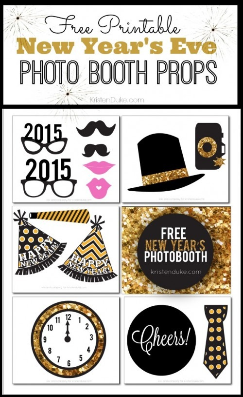New Years Eve Printables Photo Booth Props