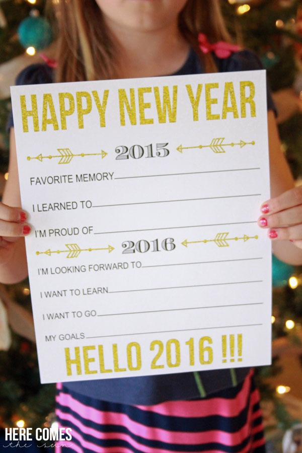 New Years Eve Printables Fill-In-The-Blank Resolutions