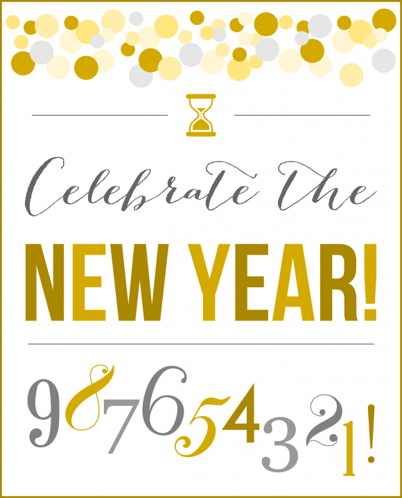 New Years Eve Printable Sign and Other Party Fun