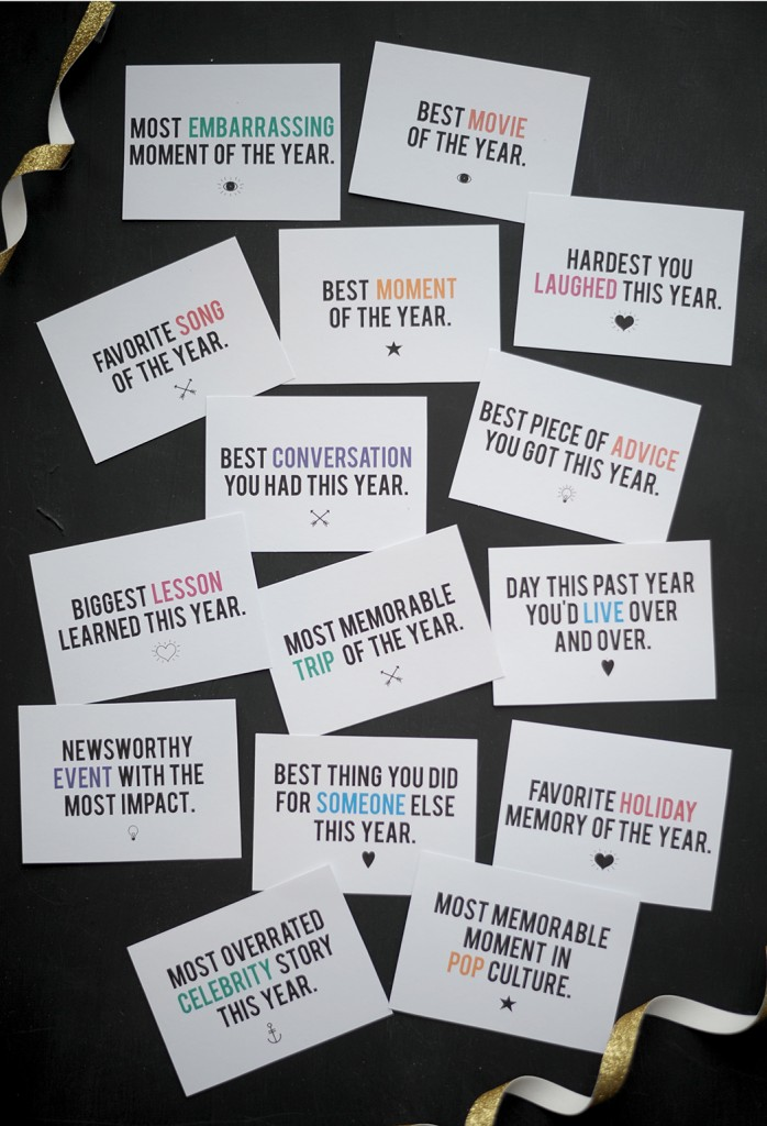 New Years Eve Printables Question Game