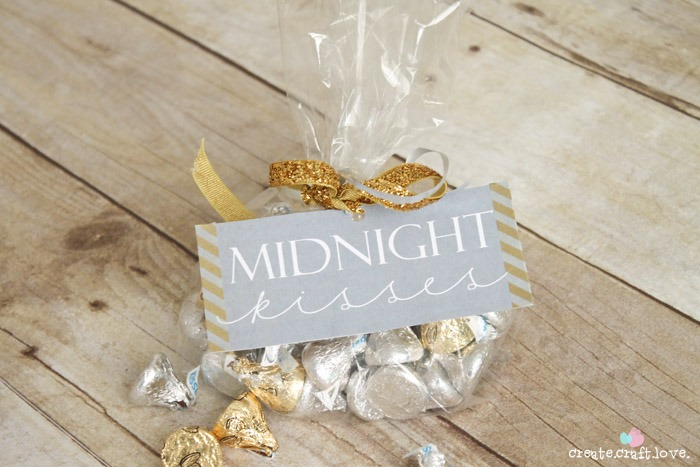 New Years Eve Printables Chocolate Kisses Favor