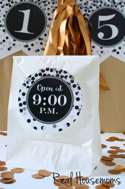 New Years Eve Printables Countdown Bags